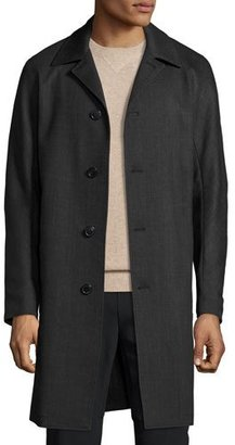 Theory Porter Palmer Single-Breasted Coat, Black/Melange Gray $1,195 thestylecure.com