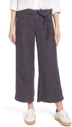 Caslon Wide Leg Crop Linen Pants