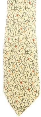Hermes Silk Holiday Lights Print Tie