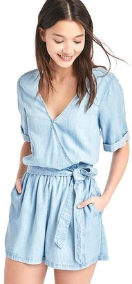 Tencel® V-neck wrap romper $59.95 thestylecure.com