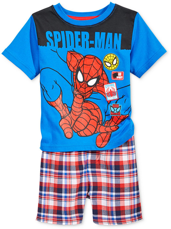 Nannette Little Boys' 2-Pc. Spider-Man T-Shirt & Shorts Set