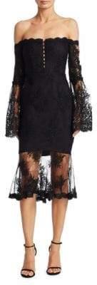 Nicholas Octavia Laced Midi Dress