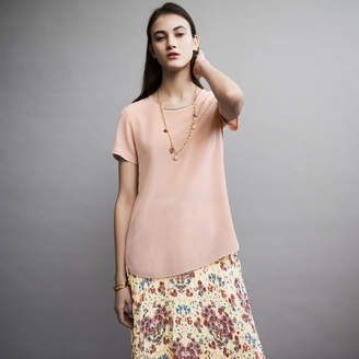 Maje Silk top with intricate detailing