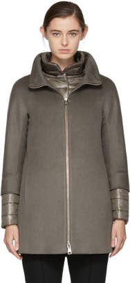 Herno Taupe Short Cashmere Coat