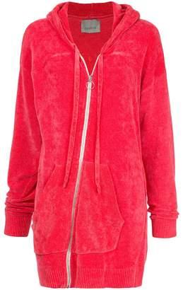 Laneus oversized zip hoodie