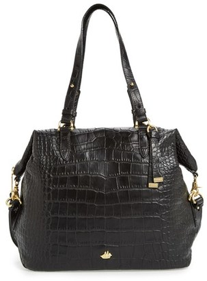 Brahmin Delaney Southcoast Croc-Embossed Leather Tote - Black $395 thestylecure.com