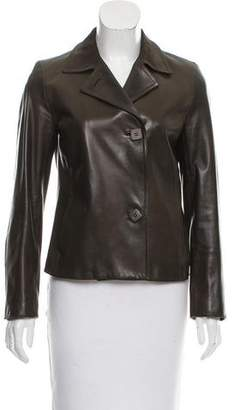 Loro Piana Notch-Lapel Leather Jacket