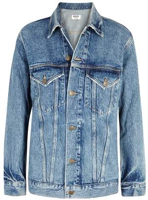 A Gold E Agolde AGOLDE Jessie Blue Denim Jacket
