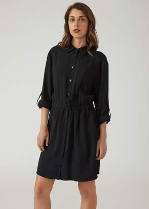 Emporio Armani Shirt Dress With Drawstring Waist