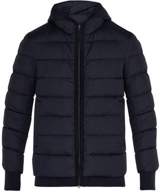 Herno Chamonix Quilted Down Jacket - Mens - Navy