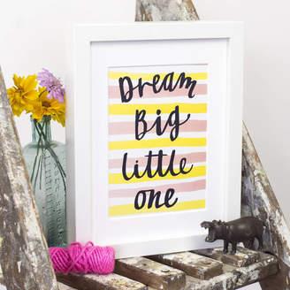 Letterbox Lane 'Dream Big Little One' Print
