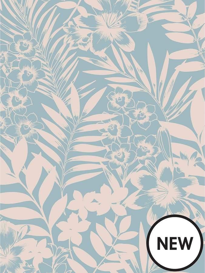 Tropical Wallpaper - Teal