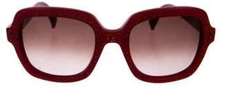 Valentino Square Gradient Sunglasses