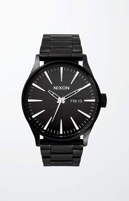Nixon The Black on Black Sentry Stainless Steel Watch