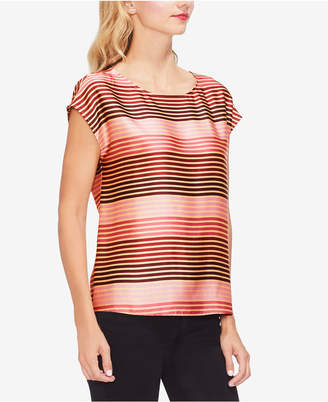 Vince Camuto Extended Shoulder Stripe Soir Top