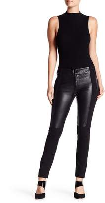Gracia Faux Leather Panel Legging Pants