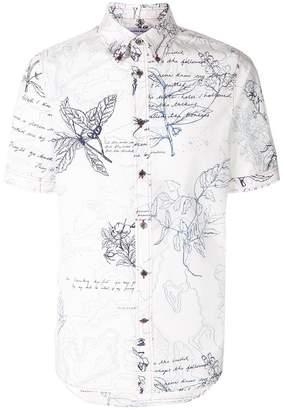 Alexander McQueen flower sketches shortsleeved shirt