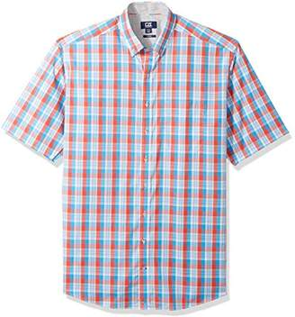 Cutter & Buck Men's Large Plaid Easy Care Button Down Short Sleeve Shirts