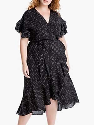 1a524b930926 Max Studio + Spot Print Ruffle Sleeve Wrap Dress