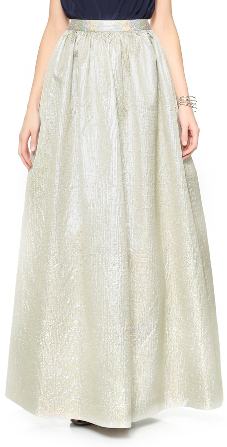 Alice + Olivia Metallic Ball Skirt