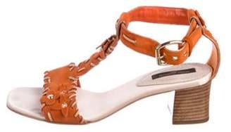Louis Vuitton Suede Fleur Sandals Orange Suede Fleur Sandals
