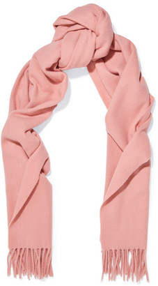 Acne Studios - Canada Narrow Fringed Wool Scarf - Pink $150 thestylecure.com