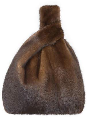 Simonetta Ravizza Furrissima Mink Fur Shopper Tote Bag, Brown