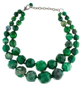 Nest Jewelry Dyed Agate Double Strand Necklace