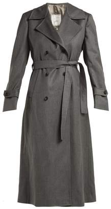 Giuliva Heritage Collection - Christie Tie Waist Wool Longline Coat - Womens - Light Grey