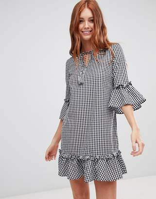 Vero Moda gingham smock dress