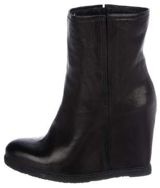 Stuart Weitzman Leather Wedge Boots