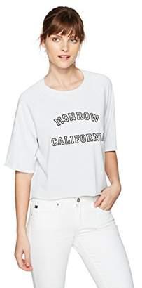 Monrow Women's Cut Off Sweatshirt California