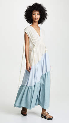 Lee Mathews Lilian V Neck Tiered Dress