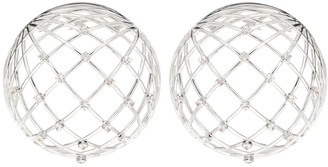 Y/Project Globe crystal-embellished earrings