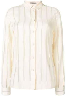 Bottega Veneta sheer striped shirt