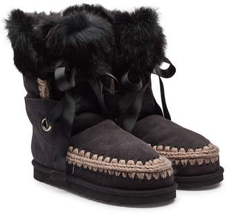 Mou Sheepskin Boots with Fur Cuff