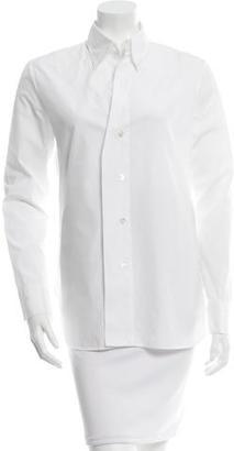 Yohji Yamamoto Long Sleeve Button-Up Top $175 thestylecure.com