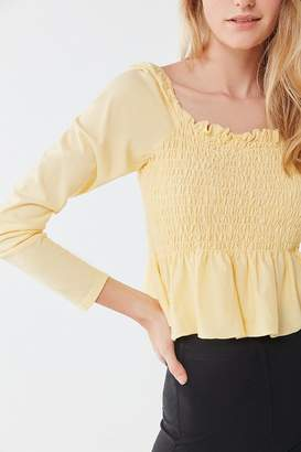 Truly Madly Deeply Sofia Smocked Peplum Top