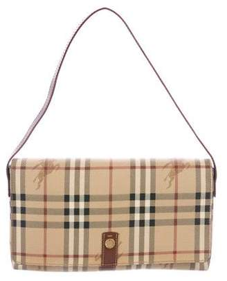 Burberry Haymarket Check Flap Bag