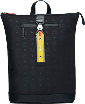 MCM Men's Resnick Monogrammed Nylon Backpack