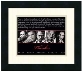 "Amanti Art ""Thinker: Peace, Power, Respect, Dignity, Love"" Framed Wall Art"