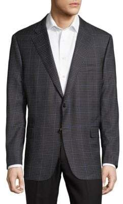 Hickey Freeman Mini Check Traveler Sportscoat