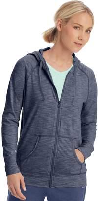 Champion Women's Heathered Jersey Zip-Up Jacket