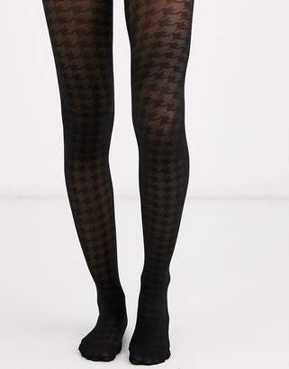 Asos Design DESIGN houndstooth tights