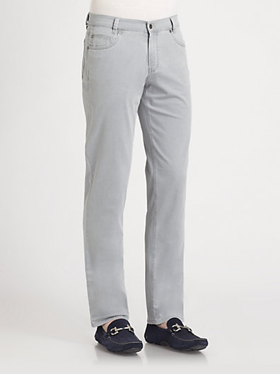 Saks Fifth Avenue Black Label Five-Pocket Sea Cell Trousers