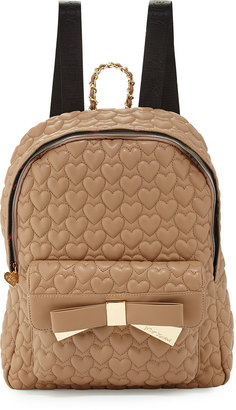 Betsey Johnson Be Mine Forever Quilted Backpack, Spice $92 thestylecure.com