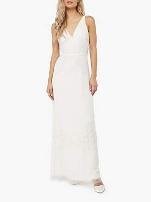 Monsoon Margaret Embellished Bridal Maxi Dress, Ivory