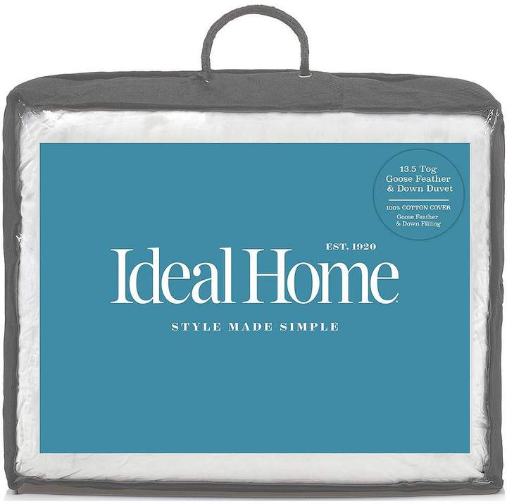 Ideal Home Luxury Goose Feather & Down 13.5 Tog Duvet