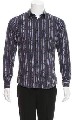 Versace Striped Button-Up Shirt