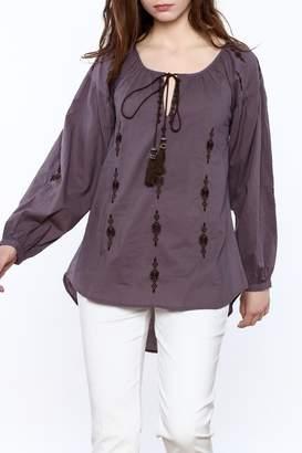 Esley Purple Long Sleeve Top